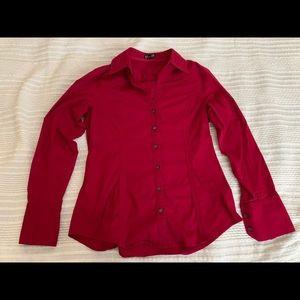Express women's top  burgundy shirt size M